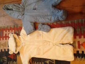 Two baby overcoats