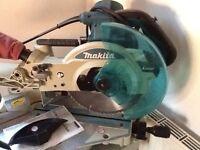Makita mitre saw ls1013l 240 v used