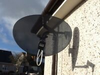 Satellite dish for sale nearly new
