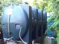 Oil Tank 2500 litres .Quarter full.