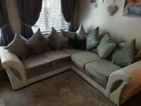 COUCHES SHANNON CRUSH VELVET CORNER OR 3+2 SEATER SOFA SET AVAILABLE IN STOCK