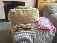 Blooming gorgeous pink lining changing bag
