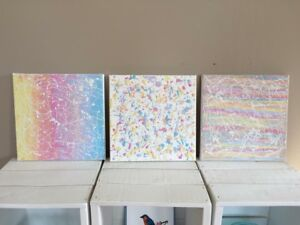 Abstract trio painting