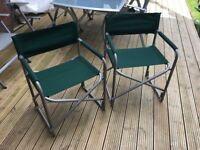 Canvas Chairs x 2 (Dark green)