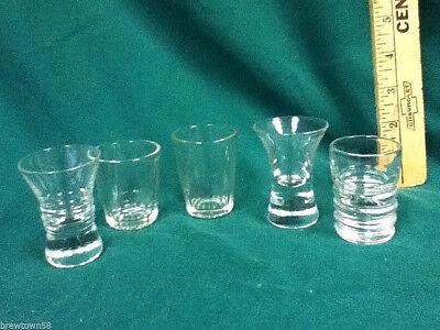 Unique shot glasses 6 clear glass plain shots shooters glassware barware AX6