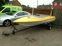 Pocton speedboat and trailer