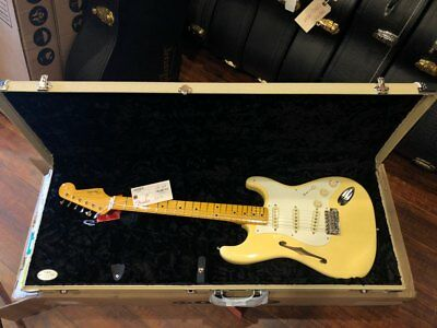 Fender Eric Johnson Thinline Stratocaster - Vintage Blanco segunda mano  Embacar hacia Spain