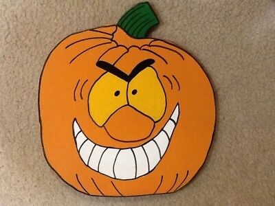 HALLOWEEN PUMPKIN WOODEN YARD DECOR HOMEMADE - Homemade Halloween Yard Decorations