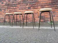 Mid Century stools with atomic style legs