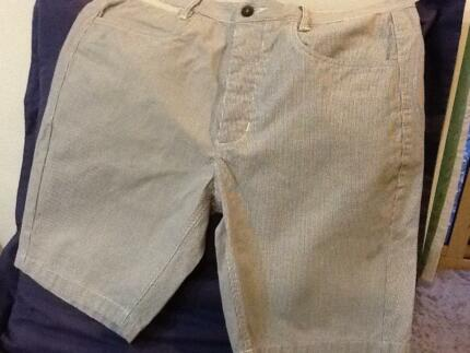 CONNOR men's blue and white pinstriped shorts size 34