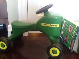 John deere toddler and children's ride on tractor and barn set