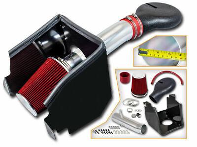 BCP RED 94-01 Dodge Ram 1500 V8 5.2L/5.9L Heat Shield Cold Air Intake + Filter