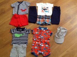 Lot of summer clothes for boys size nb