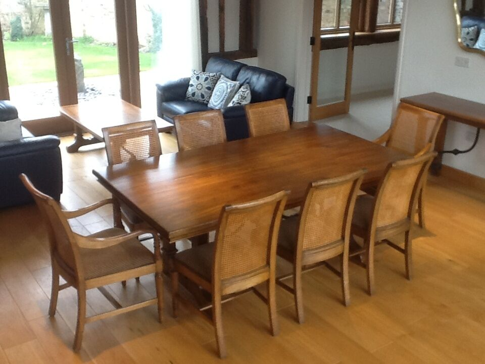 John Lewis Hunter Creek Dining Table Eight Chairs
