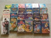 Disney VHS films & recorder