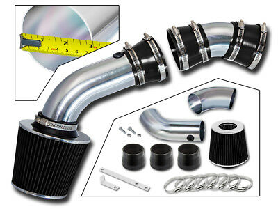 BCP BLACK 96-99 Chevy C/K 1500 4.3 V6 5.0/5.7 V8 Racing Air Intake Kit +Filter