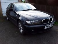 BMW 318i, 11months MOT, black, very tidy, immaculate interior