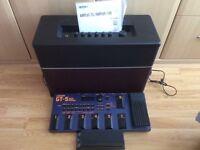 Line 6 Amplifi 150 watt amplifier with GT5 guitar effects processor + wah wah pedal