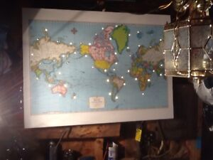World map with lights
