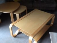 Coffee table and nest of tables. IKEA. Beech colour. In good condition.