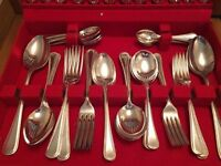 Two Silver Plated Cutlery Canteens