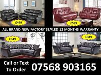 SOFA HOT OFFER BRAND NEW LEATHER RECLINER FAST DELIVERY