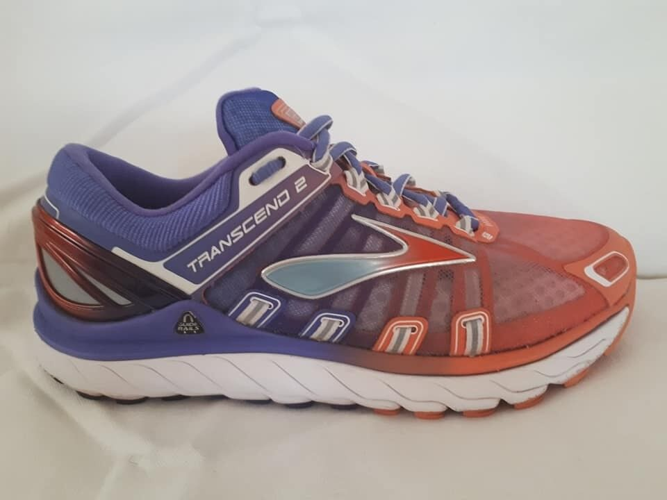 dd463a4089233 Brooks Transcend 2 Womens Running Shoes in perfect condition purple orange  UK size 5 ...half price!!