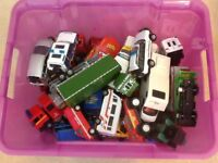 Box of Cars, Lorrys, Tractors