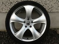 18INCH 5/110 VAUXHALL SAAB ALLOY WHEELS WITH TYRES FIT MOST MODELS
