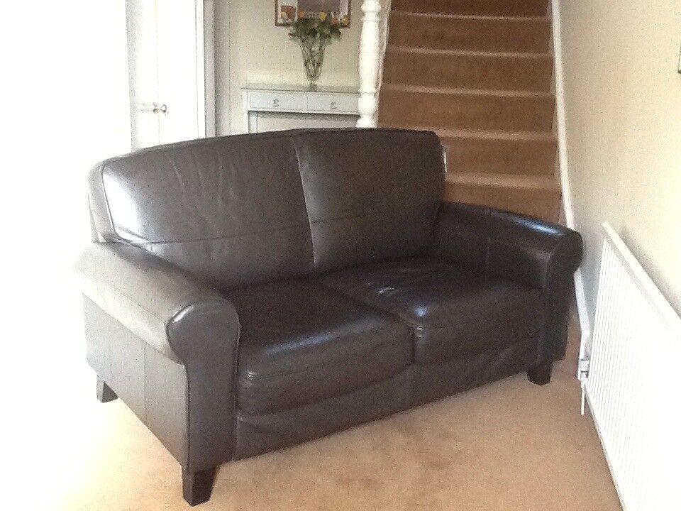Ikea Ystad 2 Seat Dark Brown Leather Sofa (£695 New)
