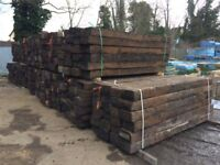RECLAIMED 'GRADE A' 2600 X 250 X 150MM RAILWAY SLEEPERS - LARGE STOCK