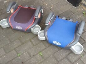 Graco booster seats for 8/9yrs upto 12yrs(25kg to 36kg)-several designs available-any one is £10each