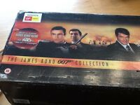 James Bond 007 video collection, ist 19 films in box.