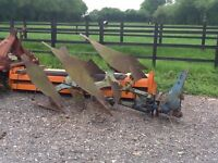 Ransome TS 82 two furrow reversible plough for tractor