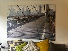 BROOKLYN BRIDGE PRINT ON CANVAS 140 X 200 CM