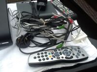 Sky reception and Broadband boxes plus leads