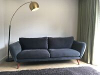 3 SEATER GREY SOFA IN EXCELLENT CONDITION