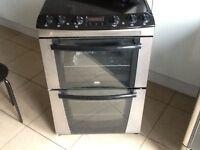 Zanussi electric double oven ( black )