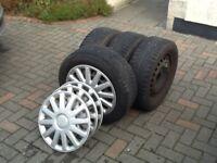 4 x GISLAVED Winter Tyres on Steel Wheels