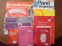 Piano course books, X 10