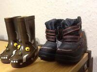 boys sports boots/gruffalo wellingtons