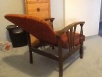 Reclining 1940s chair