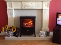 Marble fire surround with hearth