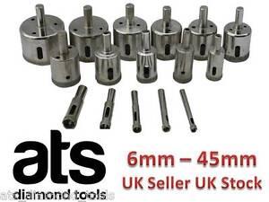 Diamond-Holesaw-6mm-45mm-Tile-ceramic-glass-porcelain-marble-drill-UK-seller