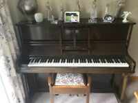 Piano for sale (Hopkinson upright) and Stool
