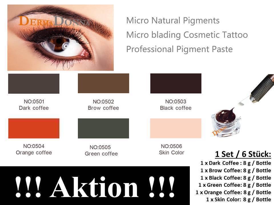 Permanent make-up Farbe Pigmentierfarbe Microblading Farbe - Wählbar - AKTION !!