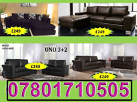 SOFA 3+2 AND RANGE CORNER LEATHER AND FABRIC BRAND NEW ALL UNDER £250 255