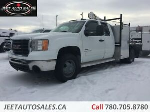 2008 GMC 3500 SLT 4X4 Ext-Cab Leather Flat Deck Tool Cabinets Di