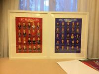 Liverpool and Everton Managers History Posters Prints and framed Art..