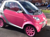 Smart Fortwo Passion Cabriolet 2005 Pink GENUINE LOW MILEAGE 24600